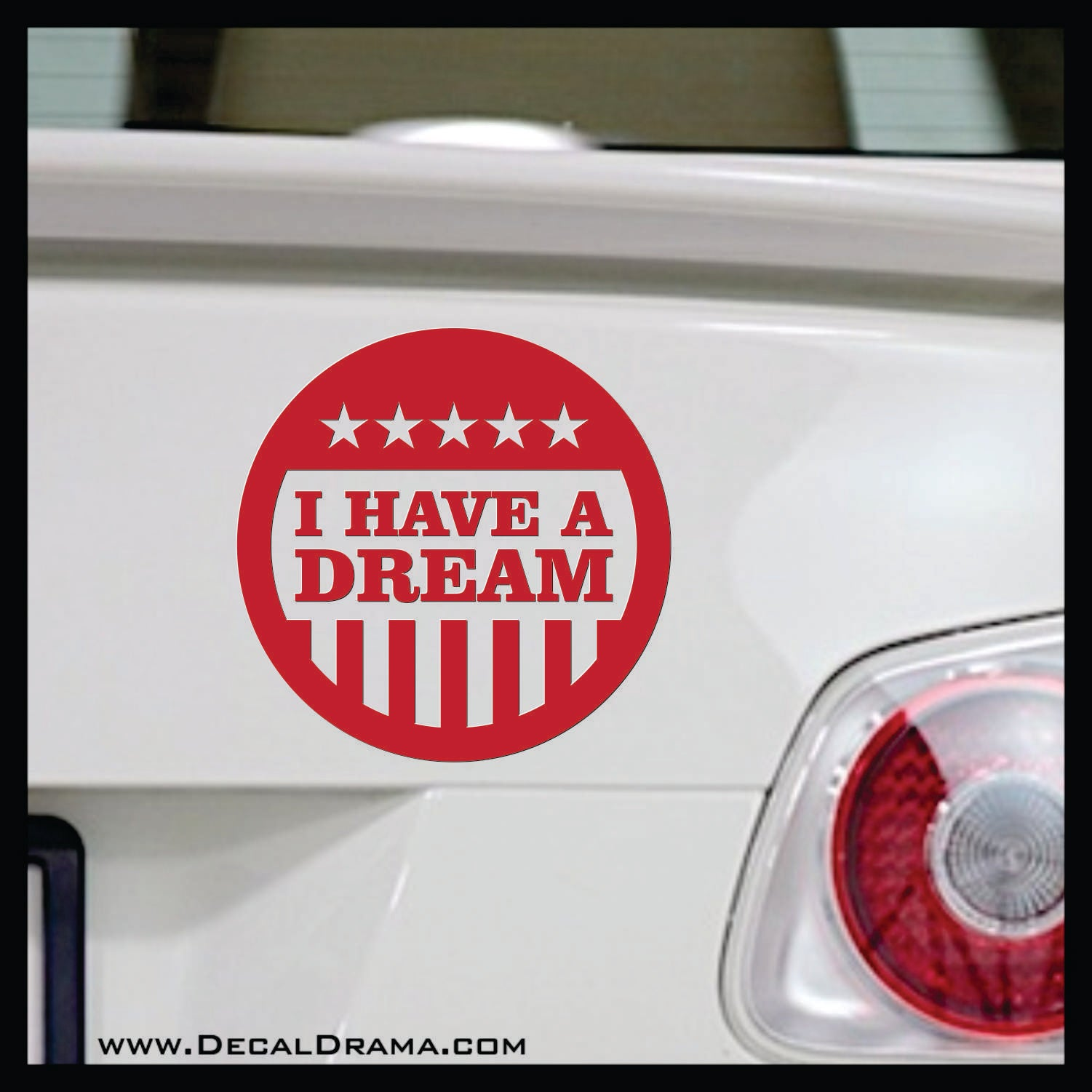 I Have a Dream flag badge, Martin Luther King, Jr. quote Vinyl Decal