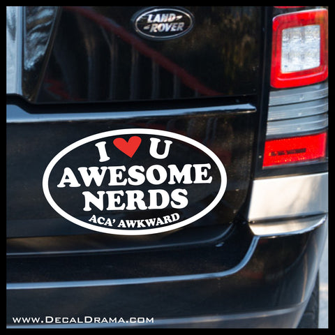 Awesome Nerds, Pitch Perfect-inspired Vinyl Car/Laptop Decal