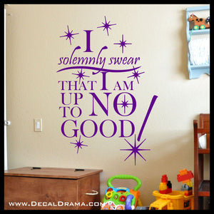 I Solemnly Swear I Am Up To No Good, Marauder's Map, Harry-Potter-Inspired Fan Art Vinyl Wall Decal