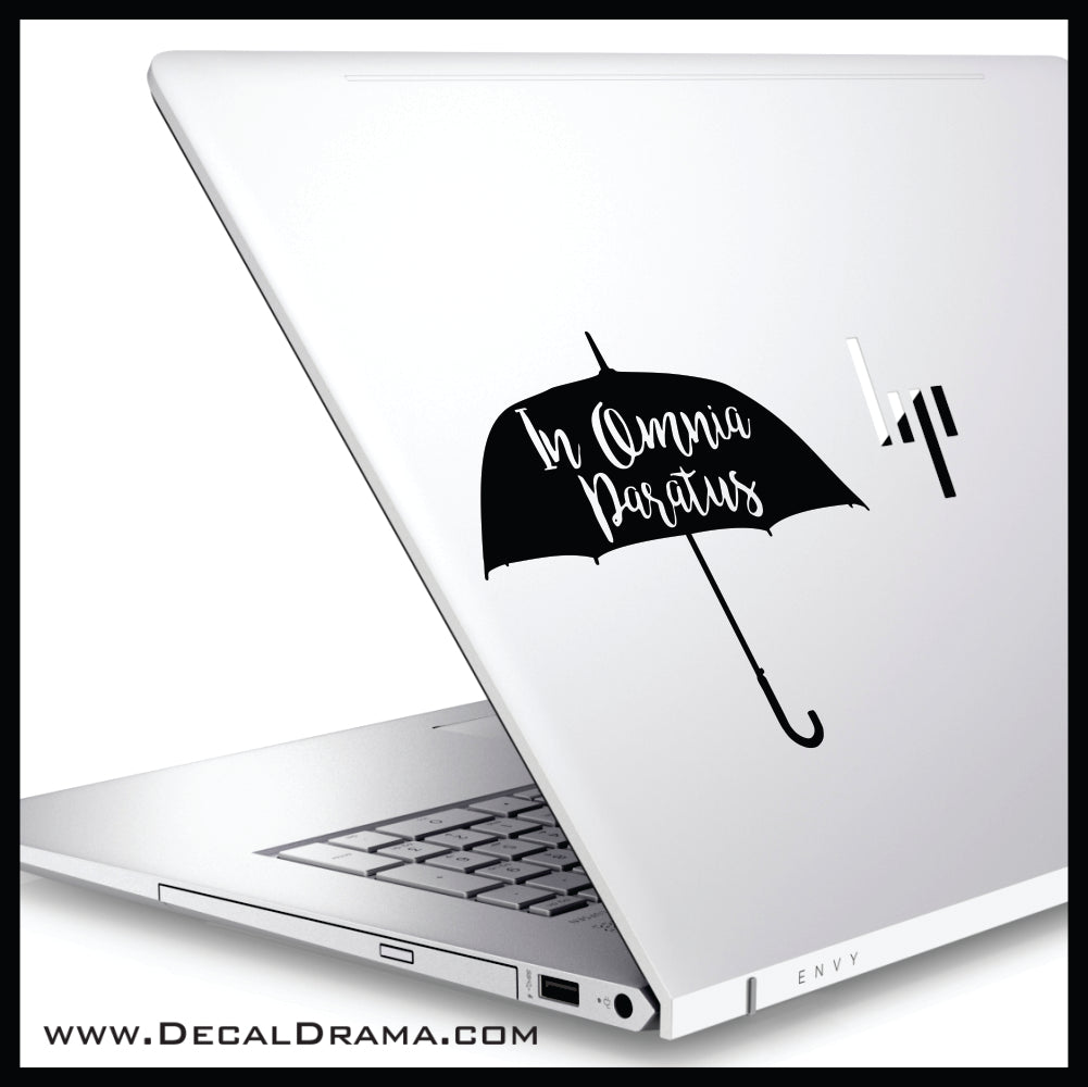 In Omnia Paratus, Gilmore Girls-inspired Fan Art Vinyl Car/Laptop Decal