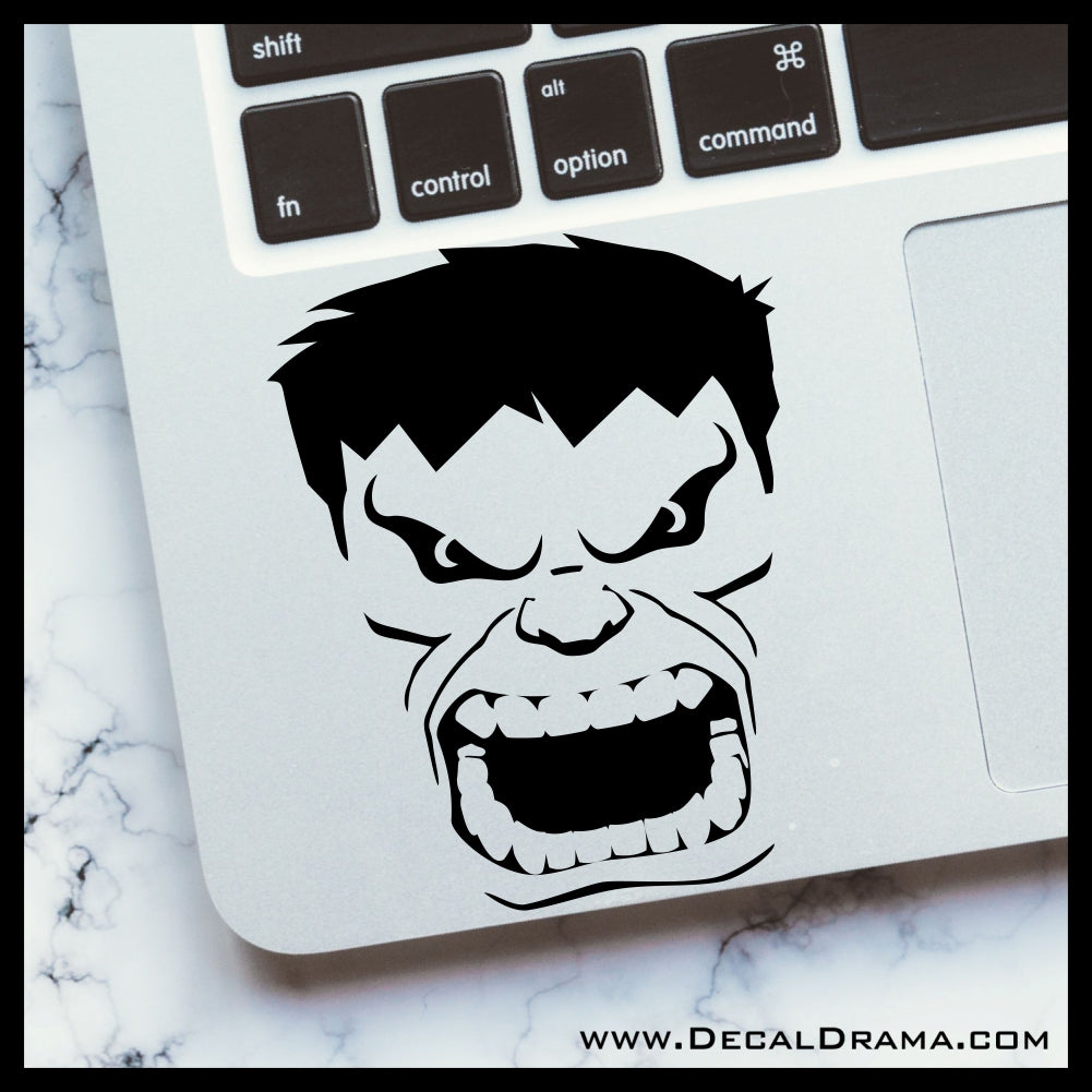 Incredible Hulk Face, Marvel Comics Avengers Vinyl Car/Laptop Decal