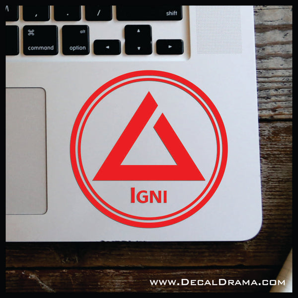 Igni sign glyph, The Witcher-inspired Car/Laptop Decal