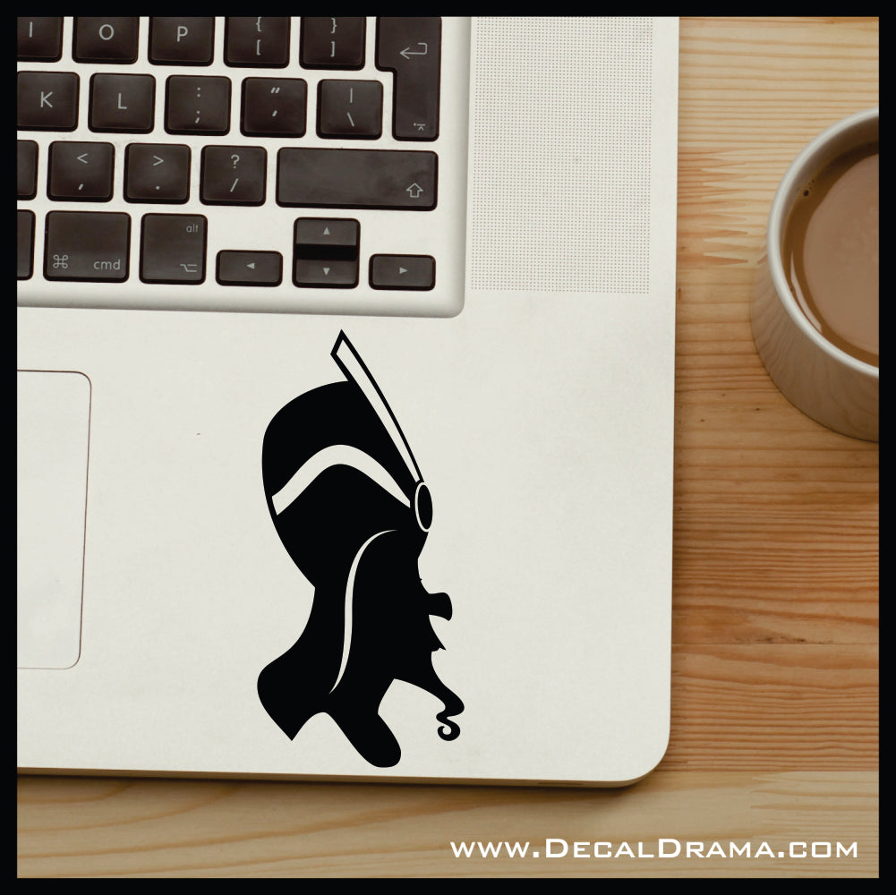 Jafar silhouette, Aladdin Villain, Vinyl Car/Laptop Decal
