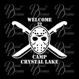 Welcome to Camp Crystal Lake, Friday the 13th-inspired Fan Art Vinyl Car/Laptop Decal
