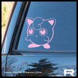 Jiggly Puff avatar Pokemon, PokemonGO Vinyl Car/Laptop Decal