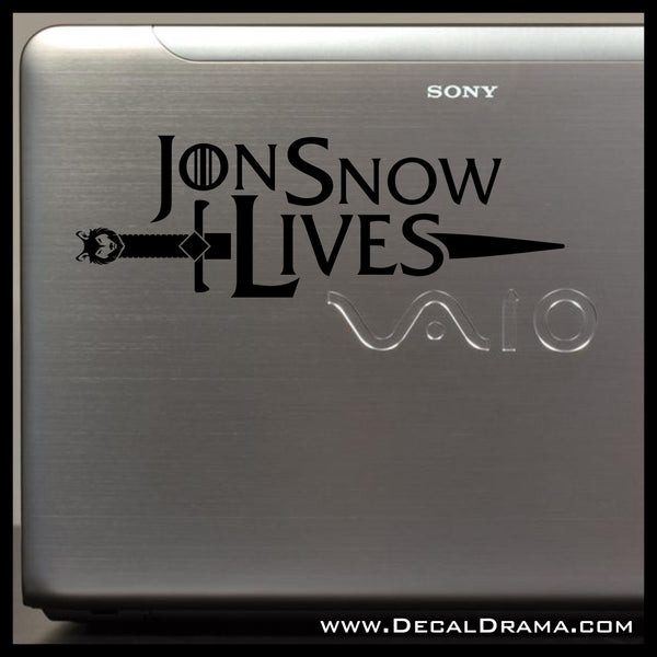 Jon Snow Lives, Long Claw Sword, GoT Game of Thrones-inspired Vinyl Car/Laptop Decal