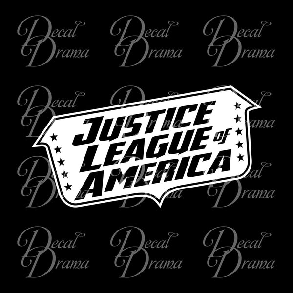 Justice League of America banner, DC Comics-inspired Justice League Fan Art Vinyl Car/Laptop Decal