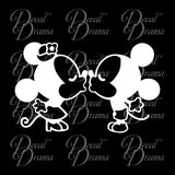 Kissing Mickey Mouse, Disney-inspired Fan Art Vinyl Car/Laptop Decal