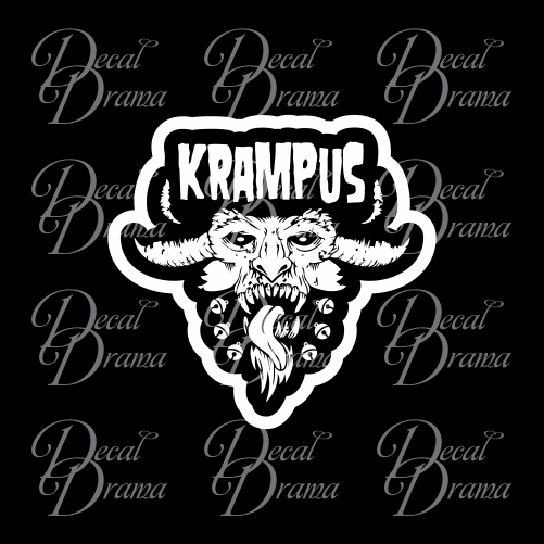 Krampus, Horned Demon of Christmas-time Vinyl Car/Laptop Decal