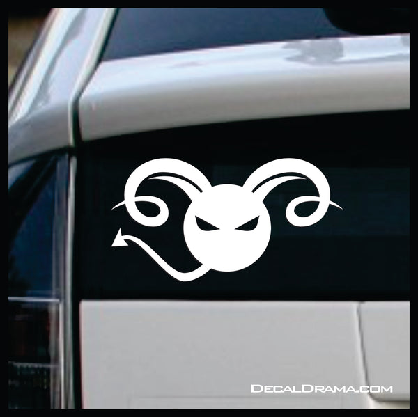 Krampus cartoon, Horned Demon of Christmas-time Vinyl Car/Laptop Decal