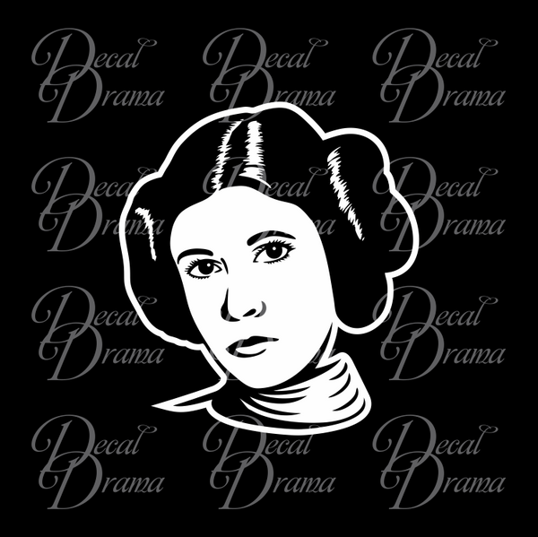Leia Star Wars-Inspired Fan Art Vinyl Wall Decal