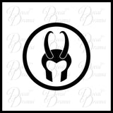 Loki Helmet emblem, Marvel Comics Avengers, Vinyl Car/Laptop Decal
