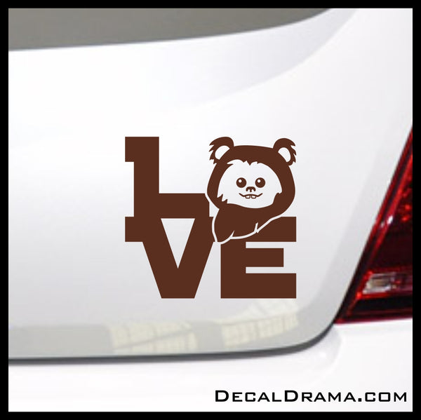 Ewok Love, Star Wars-Inspired Fan Art Vinyl Wall Decal