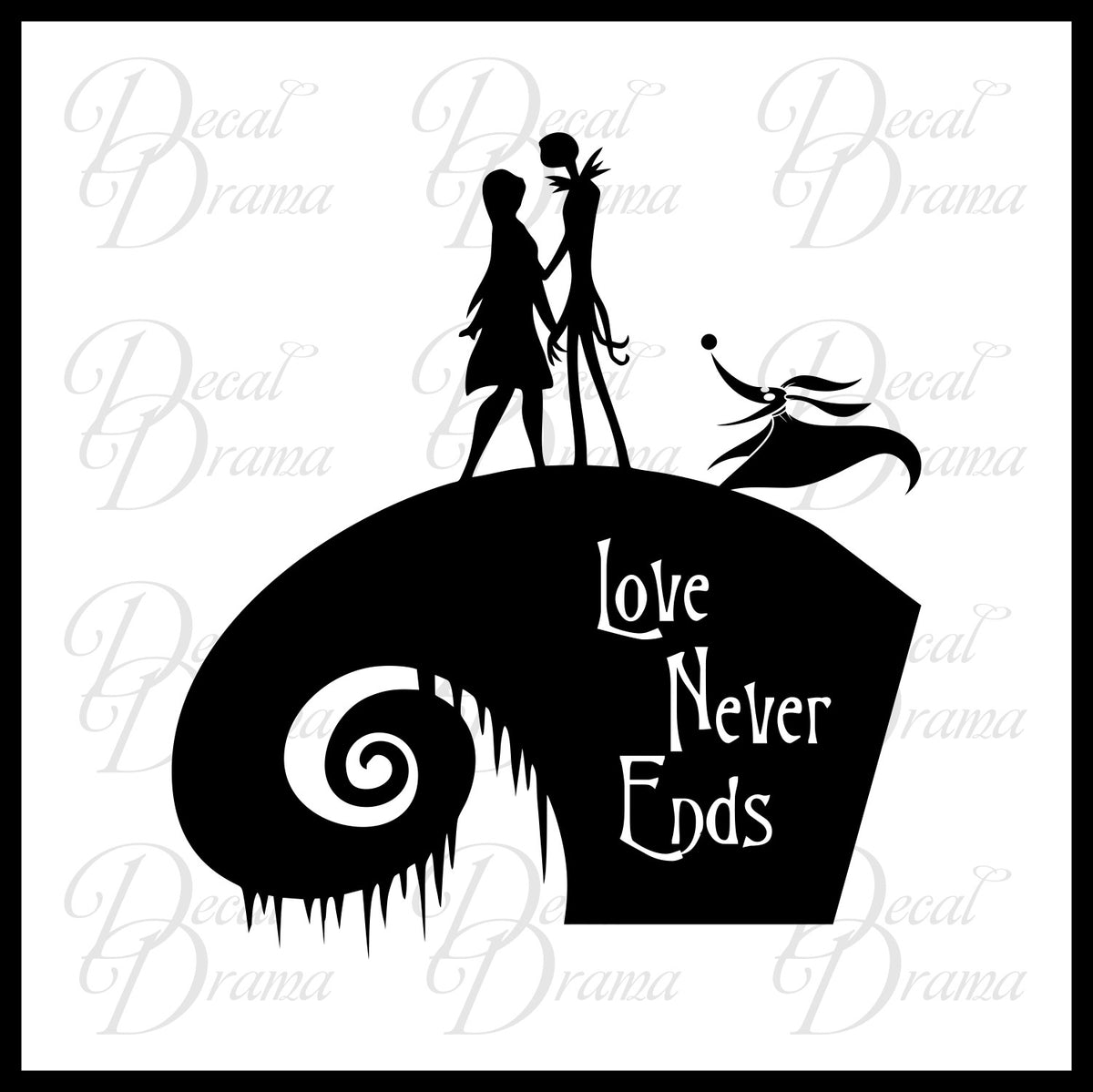 Nightmare Before Christmas Silhouette : One day he stumbles into christmas town, and is so taken with the idea of christmas that he tries to get the resident bats, ghouls.