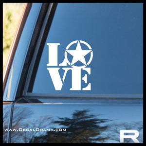 Love the US ARMY, United States Armed Forces Vinyl Car/Laptop Decal