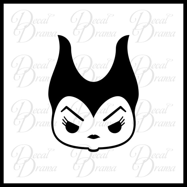 Maleficent Chibi, Sleeping Beauty Villain, Vinyl Car/Laptop Decal