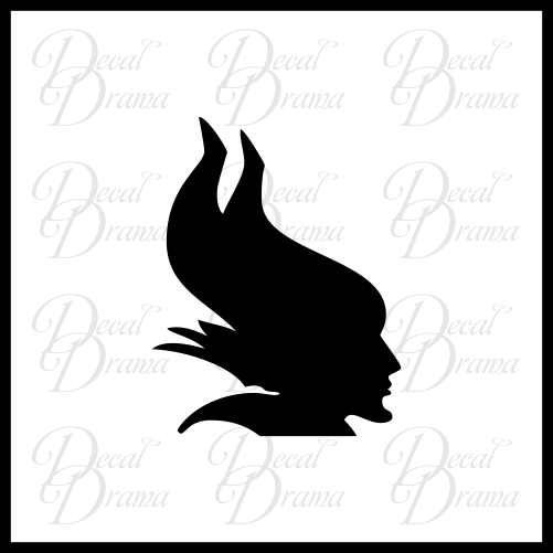 Maleficent silhouette, Sleeping Beauty Villain, Vinyl Car/Laptop Decal