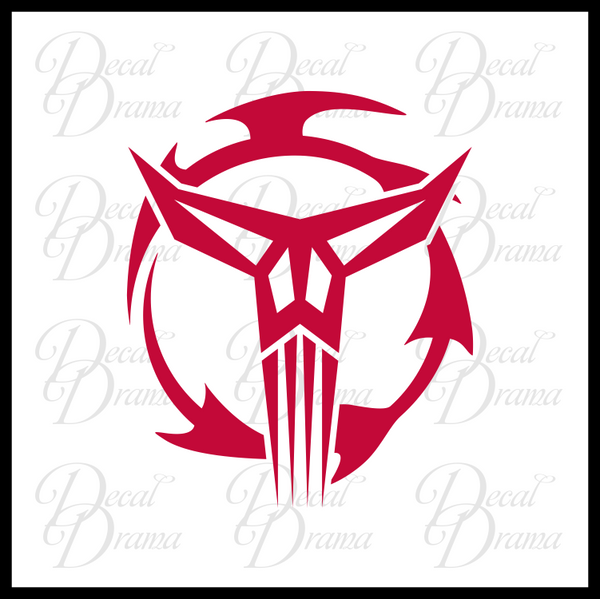 Mandalorian Neo Crusaders, Star Wars-Inspired Fan Art Vinyl Wall Decal