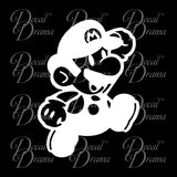Mario Jumps, Super Mario Bros video game-inspired Vinyl Car/Laptop Decal