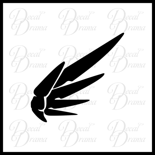 Mercy icon, Overwatch-inspired Vinyl Car/Laptop Decal