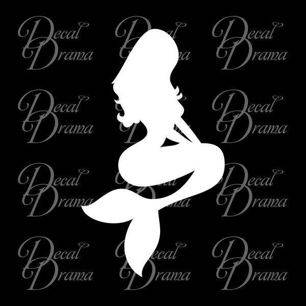 Mermaid, Sitting, Vinyl Car/Laptop Decal