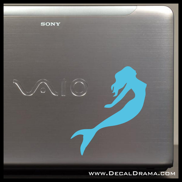 Mermaid, Swimming, Vinyl Car/Laptop Decal