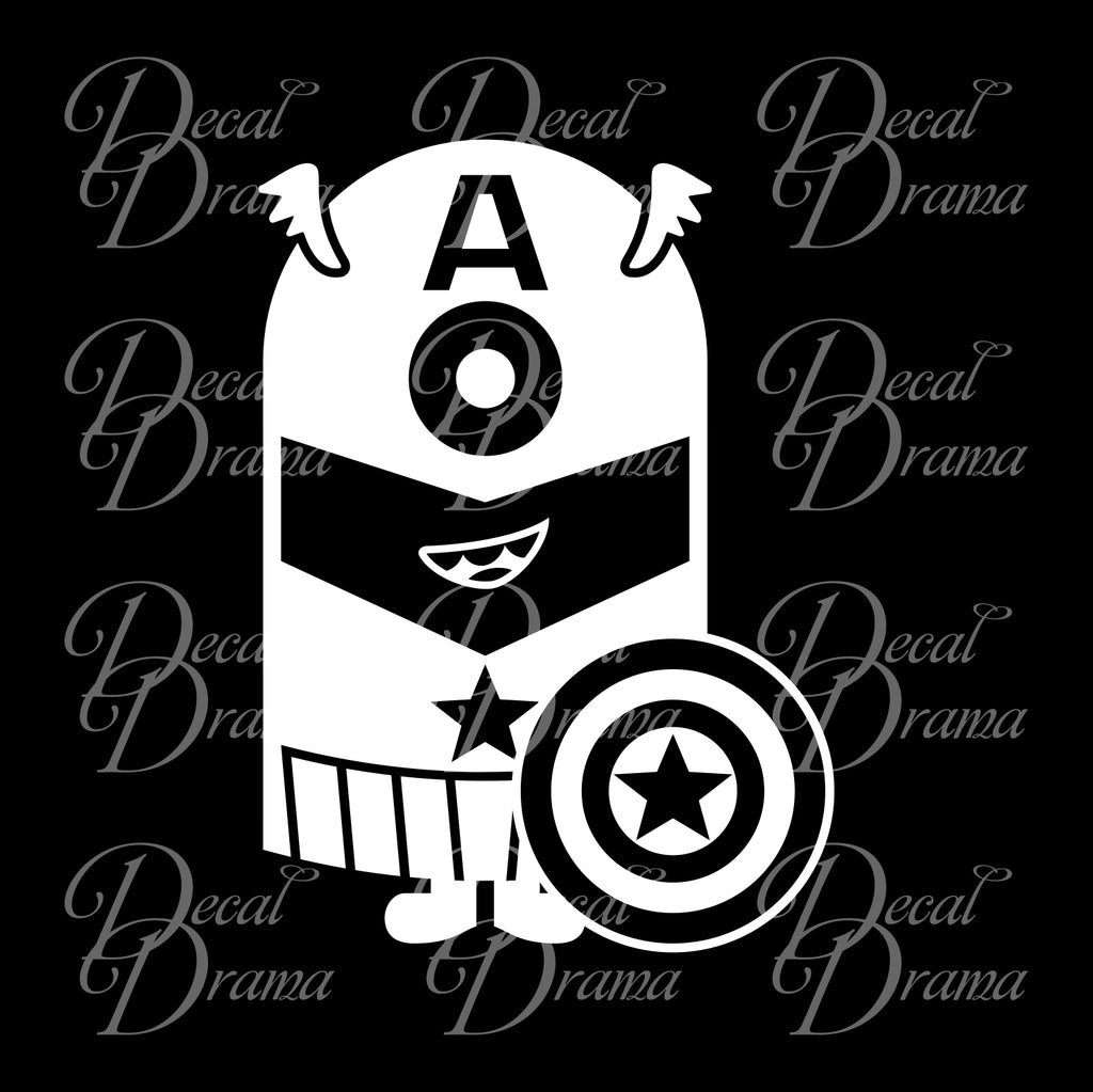 Minion Captain America Fan Art Vinyl Car/Laptop Decal