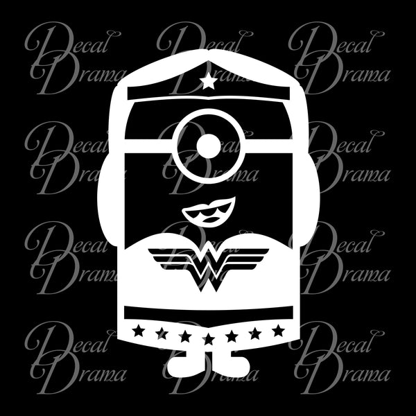 Minion Wonder Woman Fan Art Vinyl Car/Laptop Decal