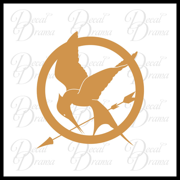 Mockingjay emblem, Hunger Games-inspired Vinyl Car/Laptop Decal