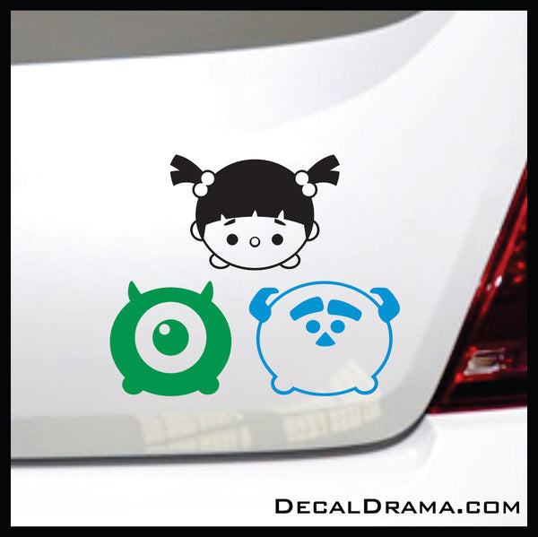 Mike Wazowski Chibi, Monsters Inc-inspired Vinyl Car/Laptop Decal