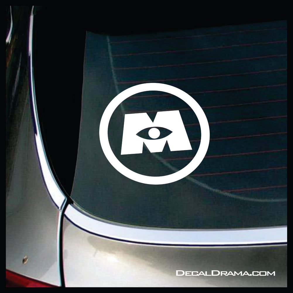 Monster's Inc logo, Monsters Inc-inspired Vinyl Car/Laptop Decal