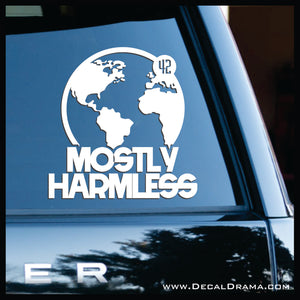 Mostly Harmless, Hitchhiker's Guide to the Galaxy-inspired Fan Art Vinyl Car/Laptop Decal