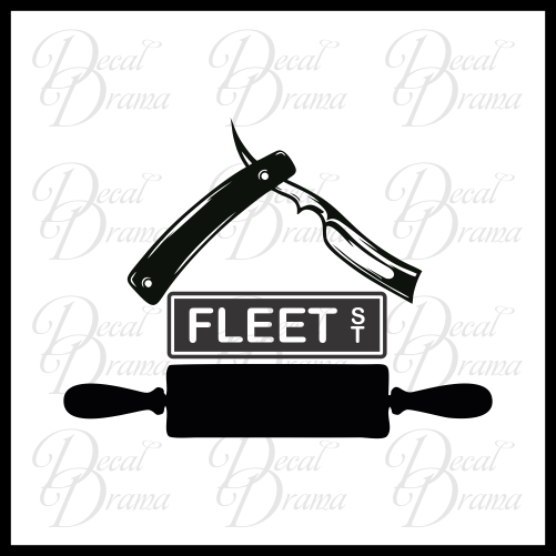 Mrs Lovett's Pie Shoppe, Sweeney Todd-inspired Vinyl Car/Laptop Decal