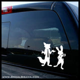 Judy Hopps silhouette, Zootopia-inspired Fan Art Vinyl Car/Laptop Decal
