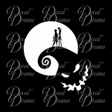 Nightmare Hill, Nightmare Before Christmas-inspired Fan Art Vinyl Car/Laptop Decal