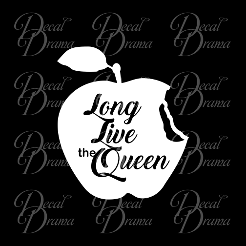Long Live the Queen, Evil Queen, OUAT-inspired Vinyl Car/Laptop Decal