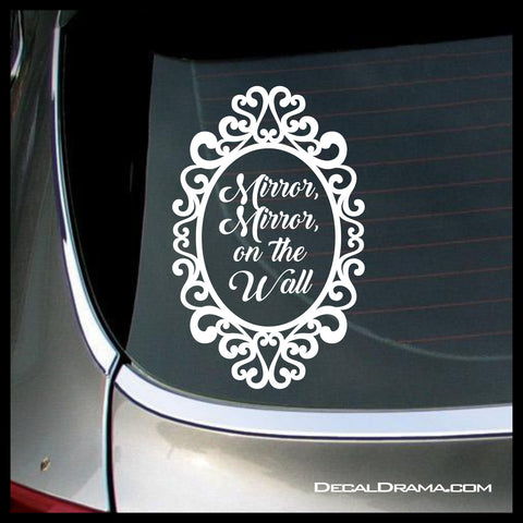 Mirror Mirror On the Wall, Evil Queen Regina, OUAT-inspired Vinyl Car/Laptop Decal