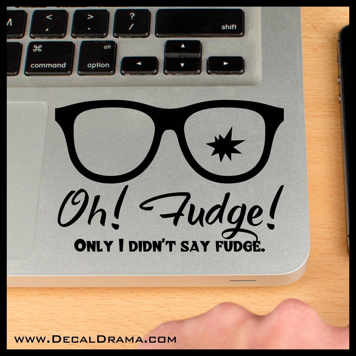 Oh! Fudge! Only I Didn't Say Fudge, A Christmas Story-inspired Fan Art Vinyl Car/Laptop Decal