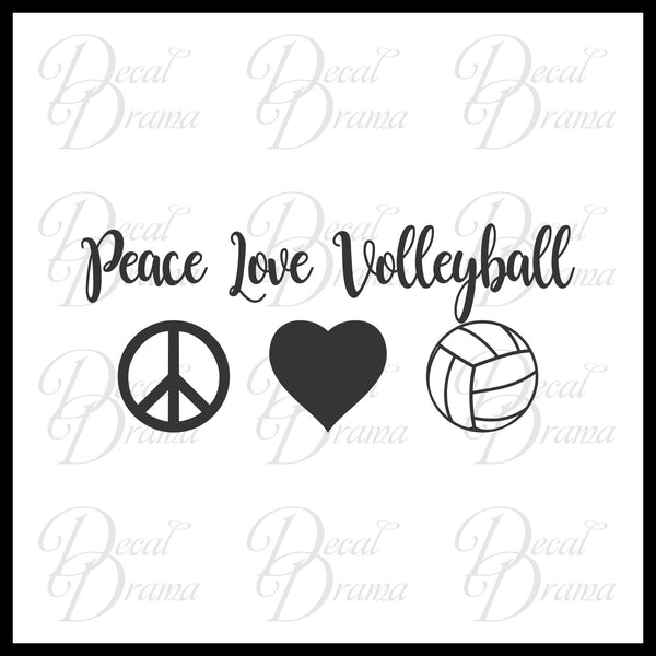 Peace Love Volleyball Vinyl Car/Laptop Decal