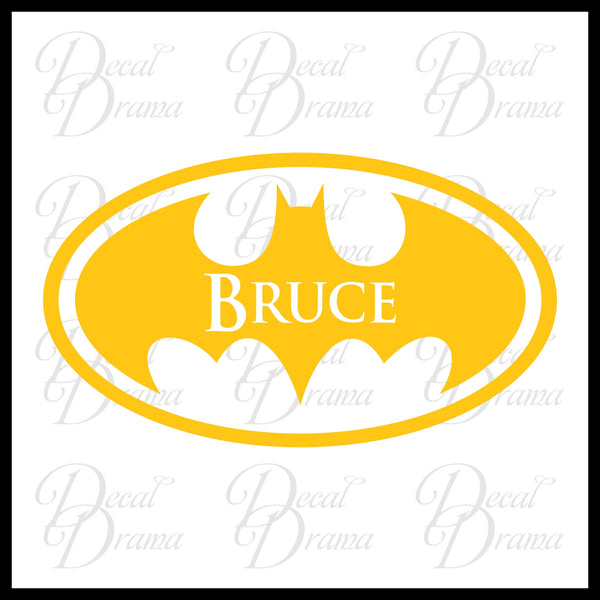Personalized Name Batman emblem Superhero Vinyl Wall Decal