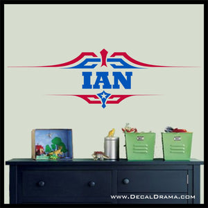 Personalized Captain America-inspired Fan-Art Vinyl Wall Decal