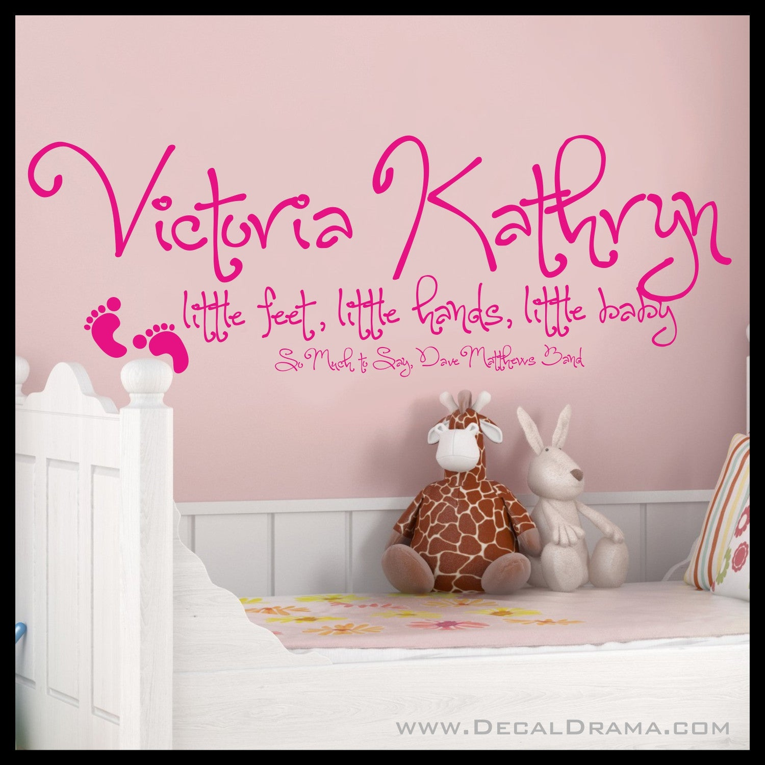 Personalized Child's Name Little Feet, Little Hands, Little Baby, Dave Matthews Band, So Much to Say lyrics Vinyl Wall Decal