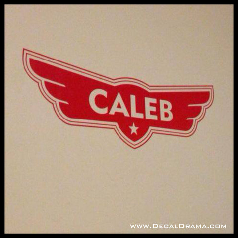 Personalized Planes emblem Inspired by Disney Planes Vinyl Wall Decal