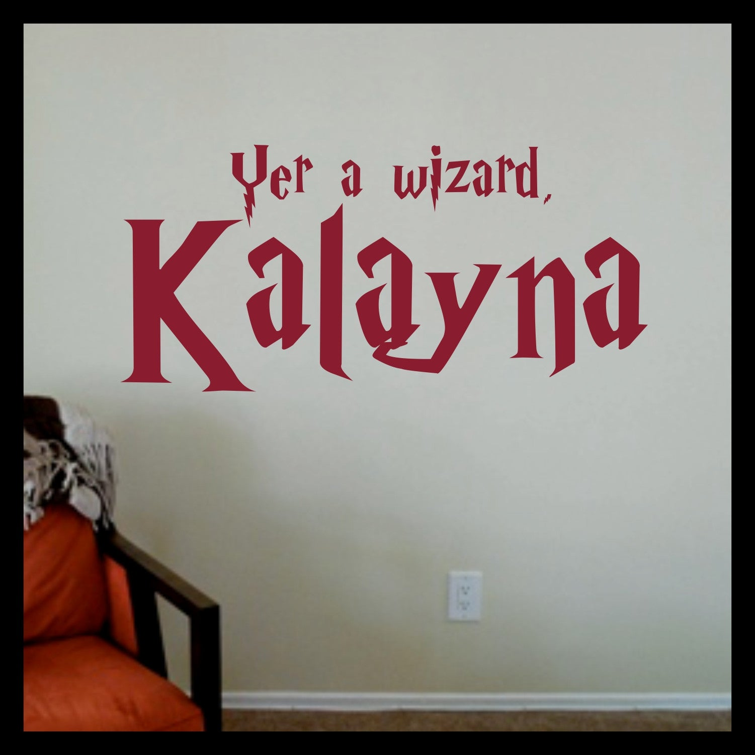 Personalized Yer a Wizard! Harry Potter-inspired Fan Art Vinyl Wall Decal