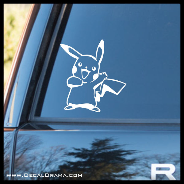 Waving Pikachu avatar Pokemon, PokemonGO vinyl car/laptop decal