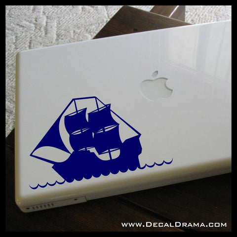 Pirate Tall-Ship Vinyl Car/Laptop Decal
