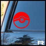 Pokeball avatar Pokemon, PokemonGO vinyl car decal