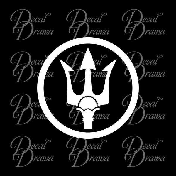 Poseidon Trident, Percy Jackson-inspired Fan Art Vinyl Car/Laptop Decal