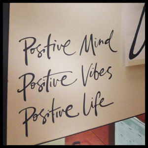 Positive Mind Positive Vibes Positive Life, Inspirational Quote, Mirror Motivator Vinyl Decal
