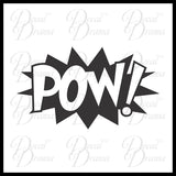 POW! Comic Book Exclamation Vinyl Car/Laptop Decal